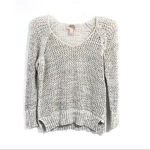 Forever 21 open knit pullover grey sweater